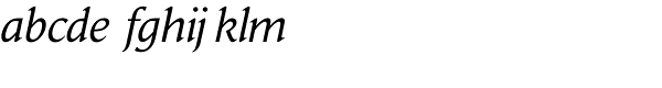 Daily News Pro Italic Font LOWERCASE
