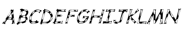 Dalmata Dream Italic Font UPPERCASE