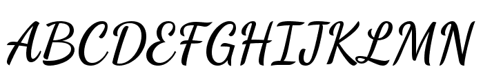 Dancing Script Bold Font UPPERCASE