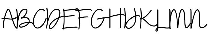 Dalina Script Font UPPERCASE