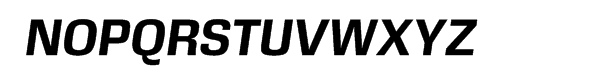 DDT Bold Italic Font UPPERCASE