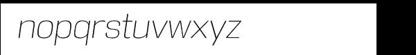 DDT Extra Light Italic Font LOWERCASE