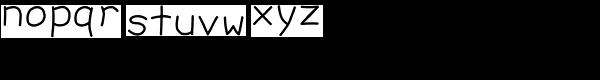 Debug Sharpie Font LOWERCASE