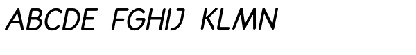 Decorum Demi Bold Italic Font UPPERCASE