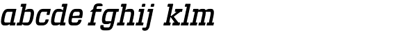 Defender 33 Italic Font LOWERCASE