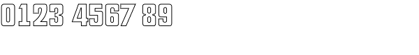 Deko Display Open Serial Font OTHER CHARS