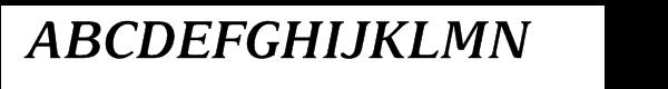 Delima™ Semi Bold Italic Font UPPERCASE