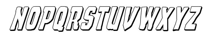 Demon Priest 3D Italic Font UPPERCASE
