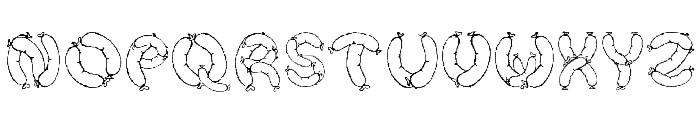Der Wurst Font Font UPPERCASE