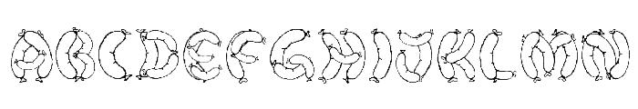 Der Wurst Font Font LOWERCASE