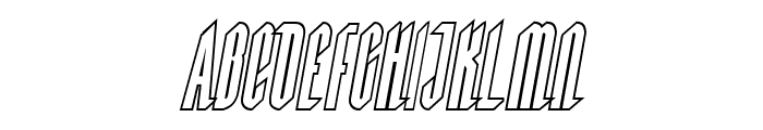 Devil Summoner Outline Italic Font UPPERCASE