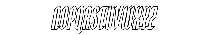 Devil Summoner Outline Italic Font LOWERCASE