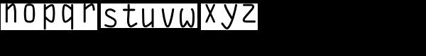 DF Staple Mono Medium Font LOWERCASE
