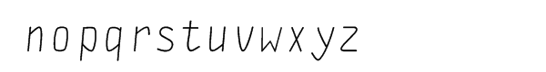 DF Staple Mono italic Font LOWERCASE