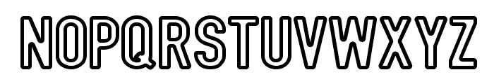 DIN Rundschrift Mittel Kontur Font UPPERCASE