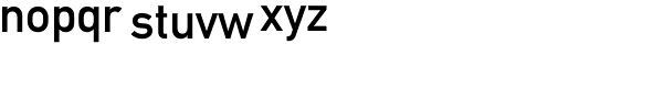 DINMittelschrift Std Font LOWERCASE