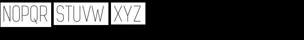 Dinesqo 4F Ultra Light Font UPPERCASE