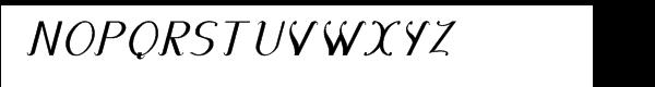 Diplomatica-Italic™ Font UPPERCASE