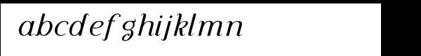 Diplomatica-Italic™ Font LOWERCASE