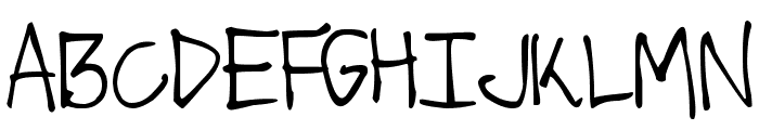 DJB Got No Time For That Font UPPERCASE