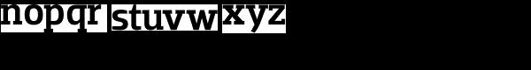 Dobra Slab-Medium Font LOWERCASE