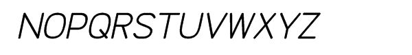 Doctarine Bold Slant Font UPPERCASE