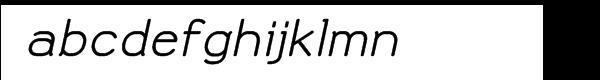 Doctarine Bold Slant Font LOWERCASE