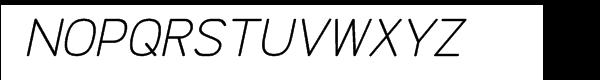 Doctarine Regular Slant Font UPPERCASE