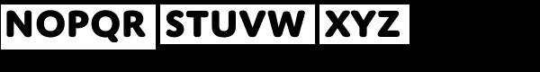 Domus Titling Extrabold Font LOWERCASE