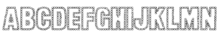 Dot Trail Font UPPERCASE