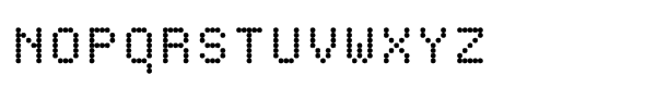 Dottie Regular Font UPPERCASE