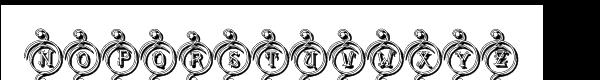 Driahn Decorative Shadow Font UPPERCASE