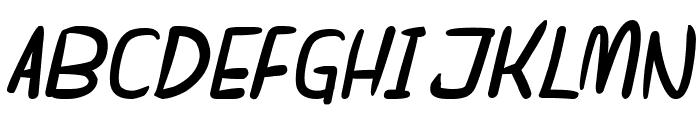dreamgirl's dream Bold Italic Font UPPERCASE