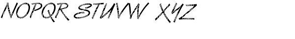 DTC Van Dijk M26 Font UPPERCASE