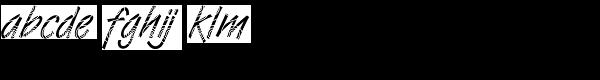 DTC Van Dijk M26 Font LOWERCASE