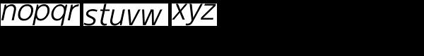 Duty-Light Oblique Font LOWERCASE