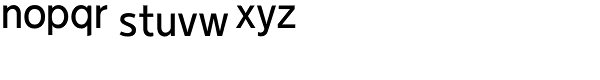 Duty-Regular Font LOWERCASE