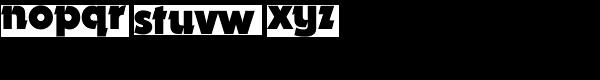 Dynamo BQ-Bold Font LOWERCASE