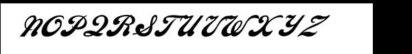 Ebor Script Font UPPERCASE