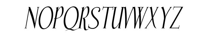 Echelon Italic Font UPPERCASE