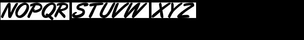 Eckhardt Freehand JNL Font LOWERCASE