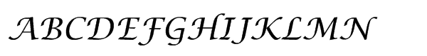 EF Lucida Calligraphy CE  What Font is