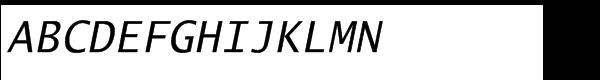 EF Lucida® Mono Italic Font UPPERCASE