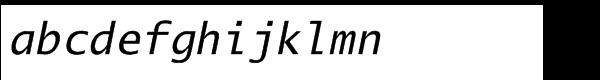 EF Lucida Mono Roman Italic Font LOWERCASE
