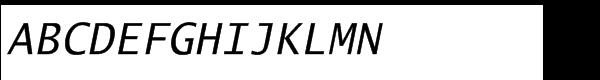 EF Lucida® Mono Turkish Roman Italic Font UPPERCASE