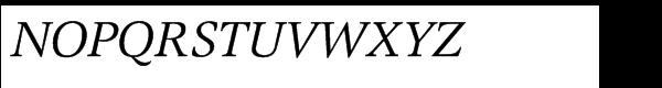EF Magna Italic Font UPPERCASE