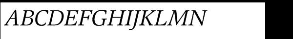 EF Magna Turkish Italic Font UPPERCASE