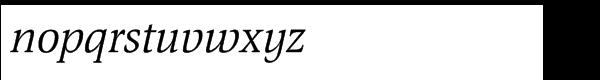 EF Magna Turkish Italic Font LOWERCASE