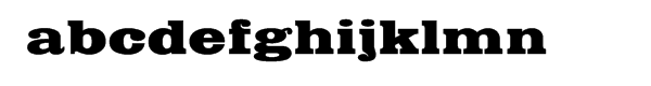 Egyptian™ Com Bold Extended Font LOWERCASE