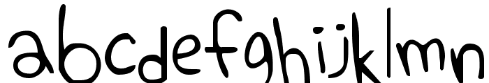 Elephant Hiccups Font LOWERCASE